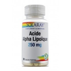 Acide alpha-lipoïque 250 mg - 30 capsules  Solaray