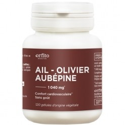 Ail - Olivier - Aubépine 1040 mg - 120 gélules Orfito