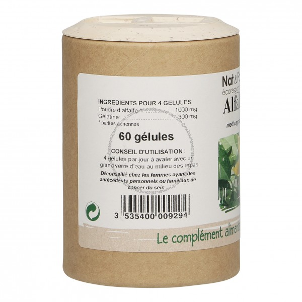 Alfalfa Eco-responsable - 60 gélules - Nat & Form