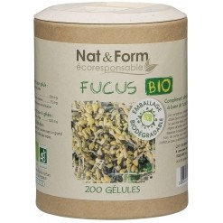 Algue fucus Bio Eco-responsable - 200 gélules - Nat & Form