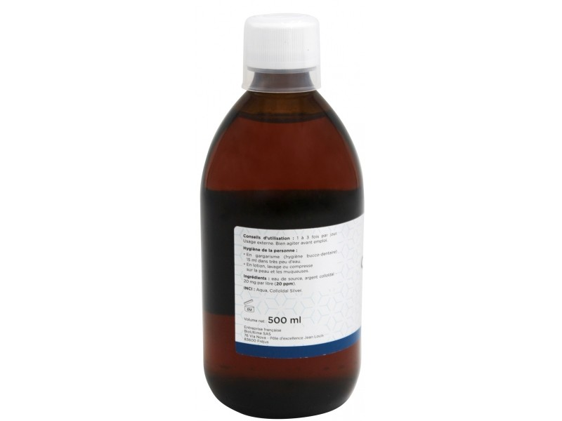 Argent colloïdal 20 ppm - 500 ml - Orfito