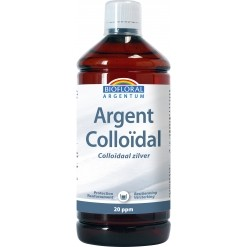 Argent Colloidal Naturel 20 ppm - 1 L - Biofloral