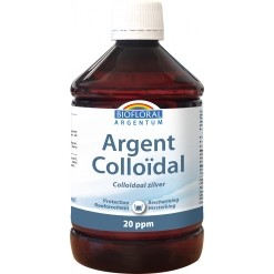 Argent colloidal naturel 20 ppm - 500 ml - Biofloral