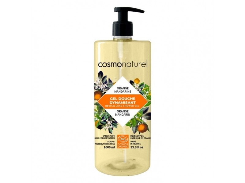 Bain et douche mandarine orange Bio - 1 L - Cosmo Naturel