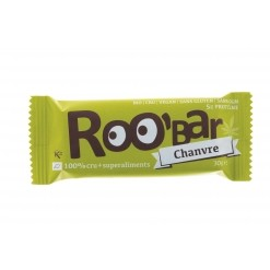 Barre chanvre Bio - 100 % cru - 30 g Roo' Bar