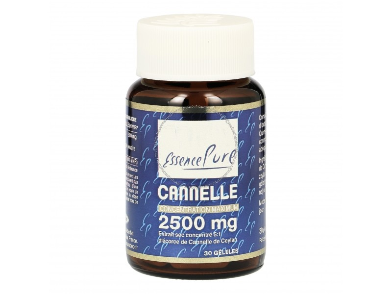 Cannelle 2500 mg - 30 gélules  - Essence Pure