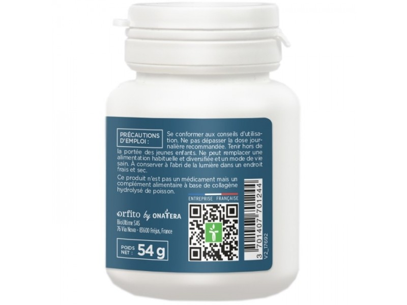 Collagène marin de type 2, 1500 mg - 60 comprimés - Orfito