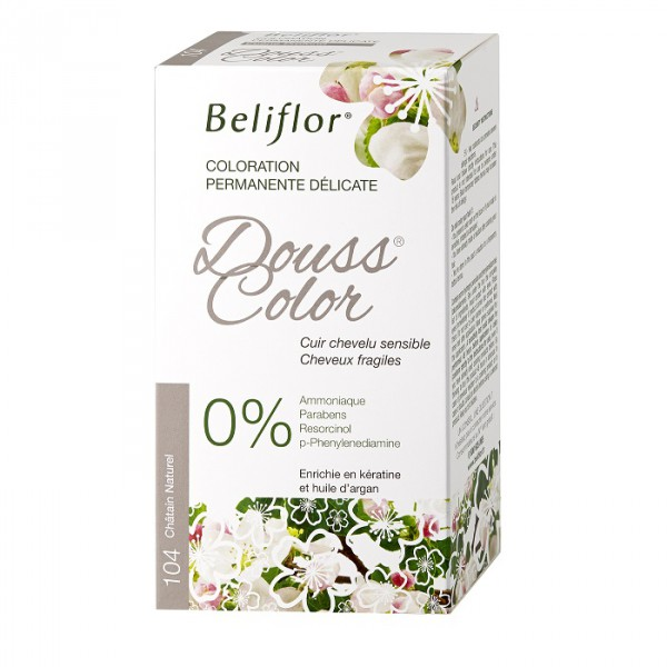 Coloration Douss Color 104 châtain naturel - 131ml - Beliflor