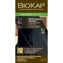 Coloration nutricolor delicato 1.0 noir  - 140 ml - Biokap