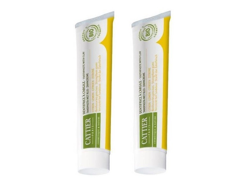 Dentargile citron Gencives irritées Duo - 2*75 ml - Cattier