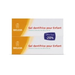 Dentifrice enfant duo Bio - 2*50 ml  Weleda