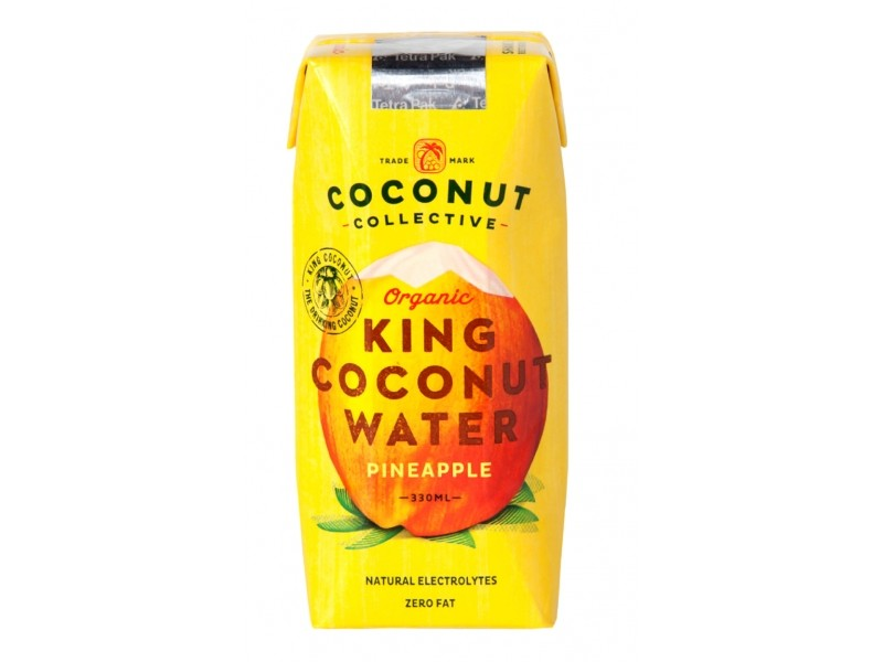 Eau de coco King Coconut Ananas Bio - 33 cl - Coconut Collective