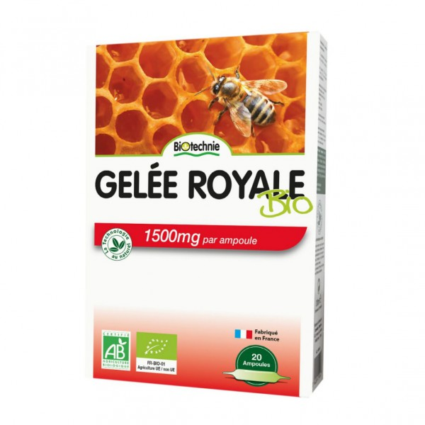 Gelée Royale 1500 mg - 20 ampoules - Biotechnie