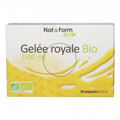 Gelée Royale bio 1500mg - 20 ampoules Nat & Form