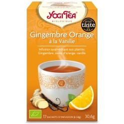 Gingembre Orange à la Vanille Bio - 17 sachets Yogi Tea