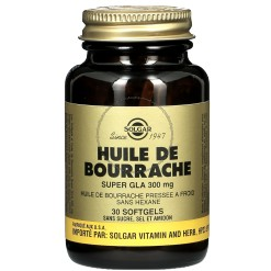 Huile de Bourrache Super Gla 300 mg - 30 softgels - Solgar