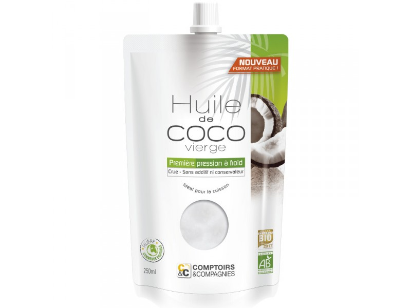 Huile de coco vierge Bio - 250ml - Comptoirs & Compagnies