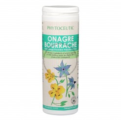 Huile Duo Onagre Bourrache - 180 Caps - Laboratoire Phytoceutic