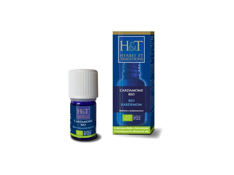 Huile essentielle Cardamome Bio - 5 ml - Herbes et Traditions