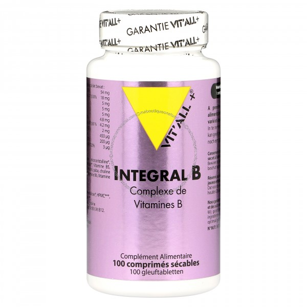 Integral B - 100 tablettes - LDOTEST - Vitall+