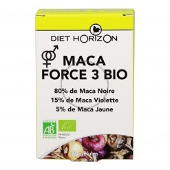 Maca Force 3 Bio - 60 gélules Diet Horizon