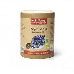 Myrtille Bio Eco-Responsable - 200 gélules  Nat & Form