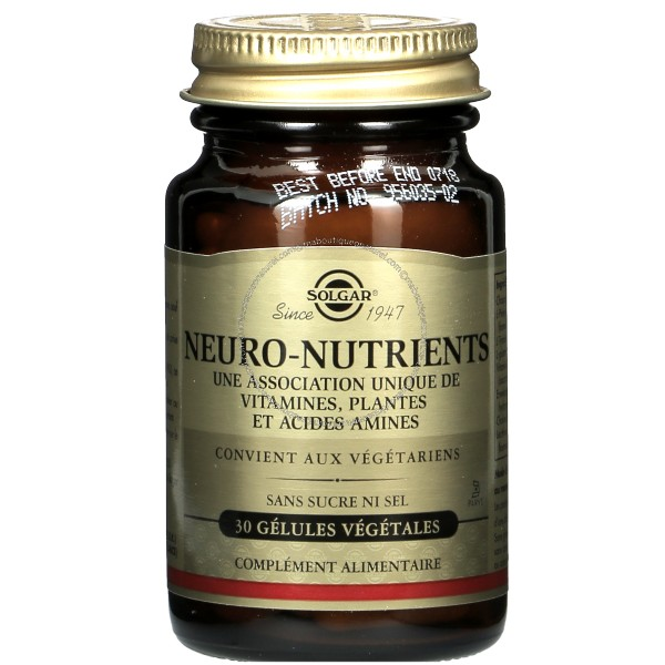 Neuro nutrients - 30 gélules - Solgar