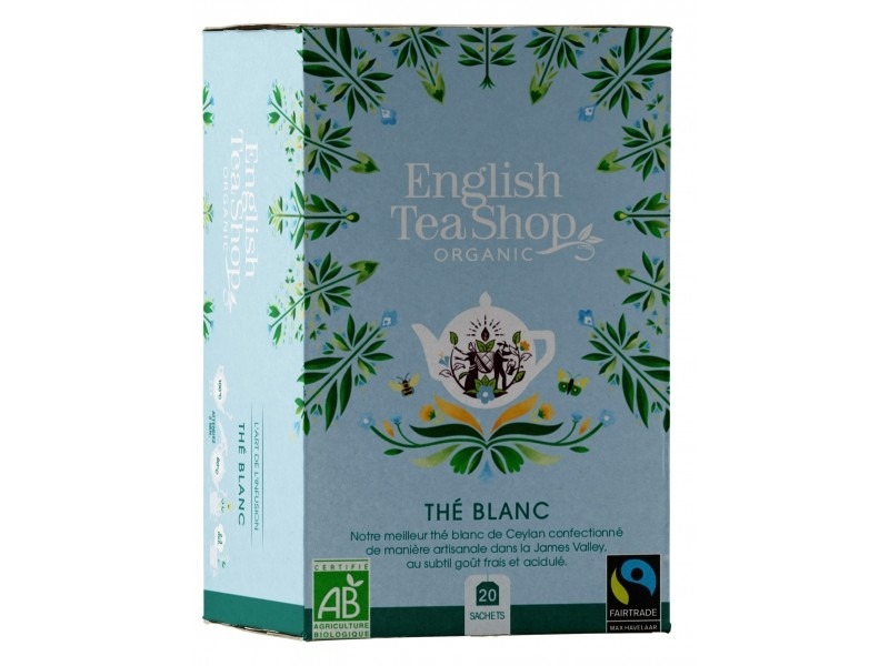 Pur thé blanc Bio - 20 sachets - English Tea Shop