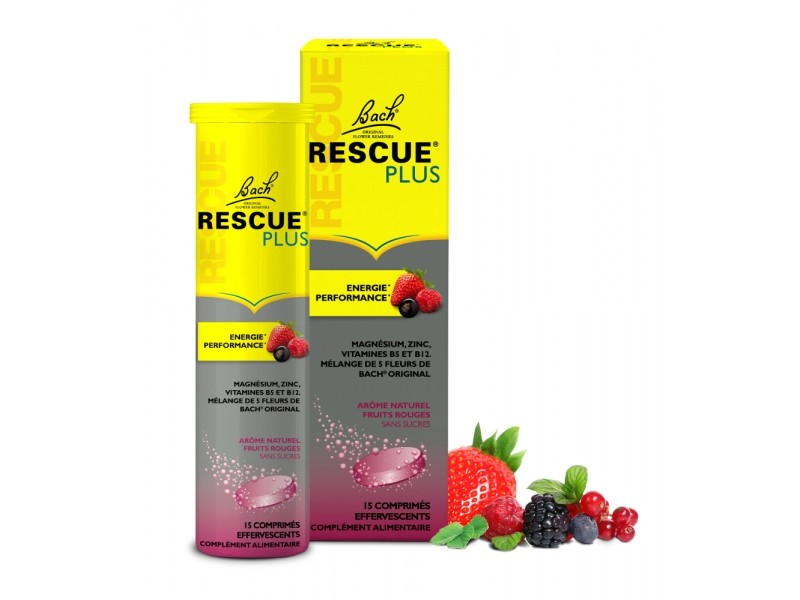 RESCUE® Plus énérgie et performance comprimés effervescents - 60 g - Bach