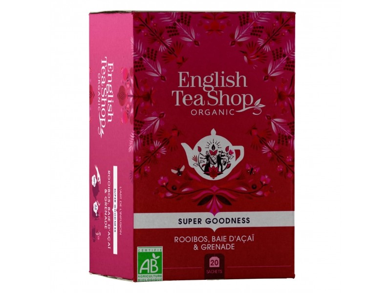 Rooïbos baie d'açaï & grenade Bio - 20 sachets - English Tea Shop
