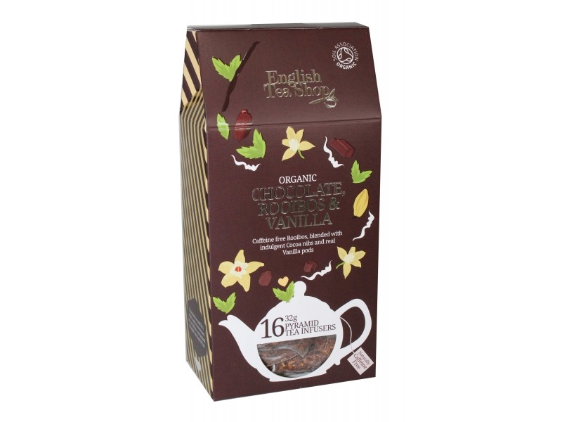 Rooibos chocolat vanille Bio - 16 sachets pyramide - English Tea Shop