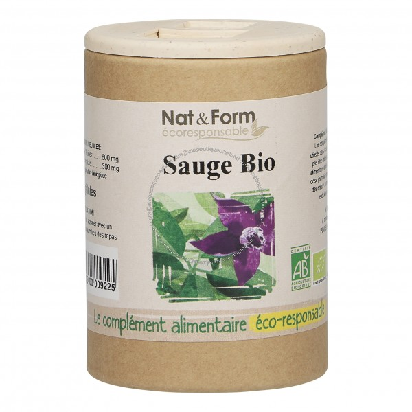 Sauge Bio Eco Responsable - 90 gélules - Nat & Form