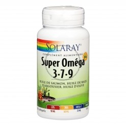 Super Oméga-3-7-9 + Vit. D3 - 60 softgels  Solaray
