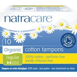 Tampons normal sans applicateurs en coton Bio - 10 tampons Natracare