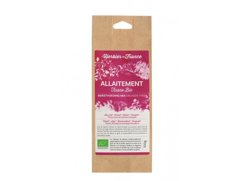 Tisane Allaitement Bio - Sachet 100 g - Herbier de France
