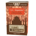Tisane Bio 1, 2, 3, Gingembres ! - 30 sachets Tisanes & Traditions