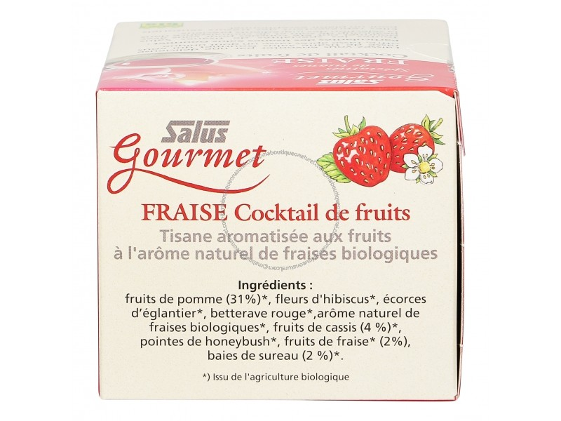 Tisane Gourmet Fraise Cocktail de fruits - 15 sachets - Salus